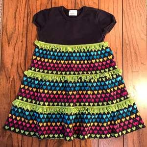 Hanna Andersson Hearts Sweater Dress (120) 6/7